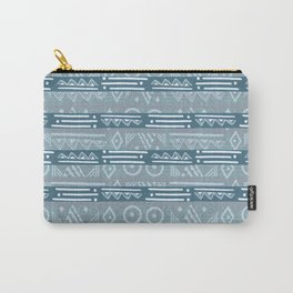 Polynesian Blue Beach Print Carry-All Pouch