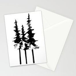 Trees and Compass Stationery Cards
