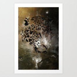 Space Leopard Knows What You Did Art Print