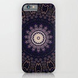 Black Dahlia // Beautiful Unique Dark Visionary Mystical Mandala Black Indigo Witchy Energy Healing iPhone Case