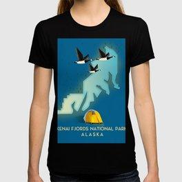 Kenai Fjords National Park Alaska travel map T-shirt