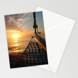 Sunset onboard a sailing yacht- Nautical photography- sailing Stationery Cards