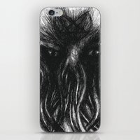 """cthulu iPhone & iPod Skins featuring Cthulu """"He is Risen"""" H.P. Lovecraft by judgehydrogen"""
