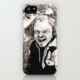 All work and no play iPhone Case