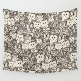 just owls natural Wall Tapestry