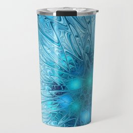 Ice crystal frozen Abstracts Travel Mug
