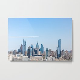 Blue Angels & Thunderbirds Flyover Philadelphia for Healthcare Heroes Salute Metal Print