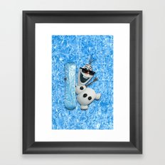 SNOW MAN OLAF Framed Art Print