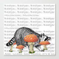 badger Canvas Prints featuring badger by myepicass