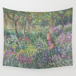 Monet's garden at Giverny Wall Tapestry