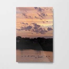 Babylon, New York Sunset Metal Print