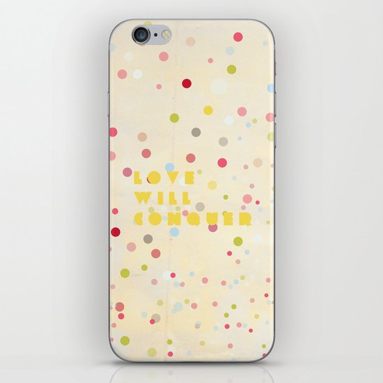 Love will conquer iPhone Skin