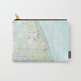 FL Vero Beach 348953 1985 topographic map Carry-All Pouch