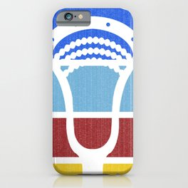 Lacrosse TeePee Fade iPhone Case
