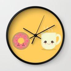 Coffee and Donut Buds Wall Clock
