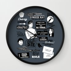 Horrible's Quotes Wall Clock