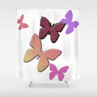 butterflies Shower Curtains featuring Butterflies by Judith Lee Folde Photography & Art