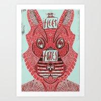 fleet foxes Art Prints featuring Fleet Foxes by BernardoMajer