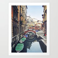 venice Art Prints featuring VENICE by xoxo