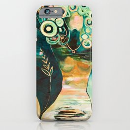 """Thirty Six"" Original Painting by Flora Bowley iPhone Case"