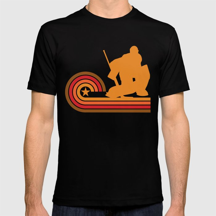 Retro Style Hockey Goalie Vintage T-shirt by awesomeart  8f1627349