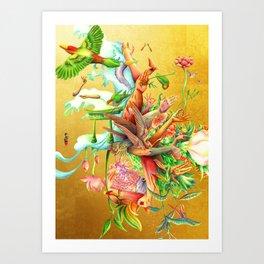 生まれサークル Umare Circle Art Print