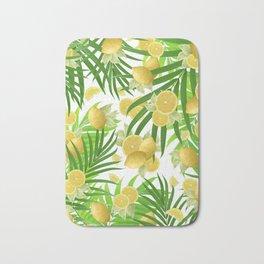 Summer Lemon Twist Jungle #2 #tropical #decor #art #society6 Bath Mat