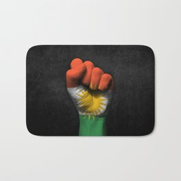 Kurdish Flag on a Raised Clenched Fist Bath Mat