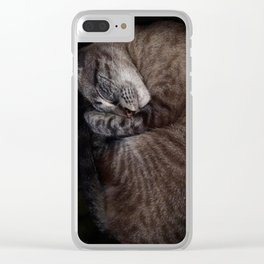 Cozy AF (vertical) Clear iPhone Case