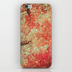 Autumn Reds iPhone Skin