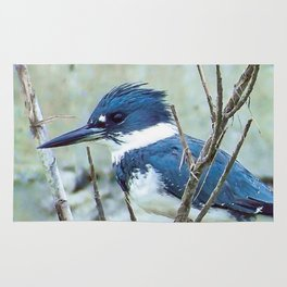 Young Belted Kingfisher (Repost) Rug