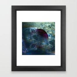 """Blue clouds on Saturn"" Framed Art Print"