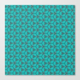 Hex Pattern 65 - Teal Canvas Print