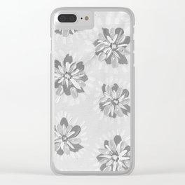 Cloud Petal Rose Clear iPhone Case