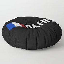 France: French Flag & Paris Floor Pillow