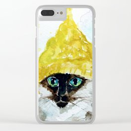 Yellow Knit Clear iPhone Case