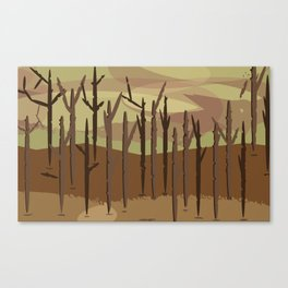 Burning forest future Canvas Print