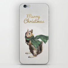 Festive Chipmunk iPhone Skin