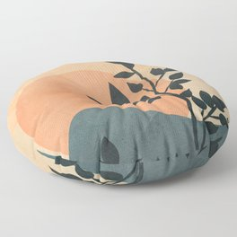 Orange Rising Sun Floor Pillow