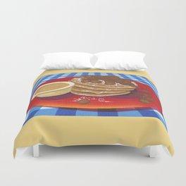 Pancakes Week 4 Duvet Cover