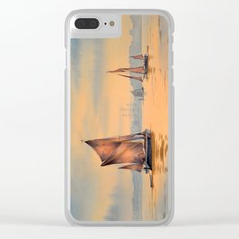 Thames Barges At Greenwich London Clear iPhone Case