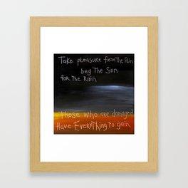 those who are damaged Framed Art Print