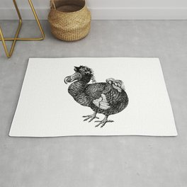 Mrs Dodo | Dodo Bird | Extinct Birds | Black and White | Rug