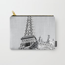 Eiffel tower at Las Vegas, USA in black and white Carry-All Pouch