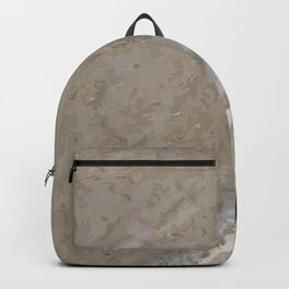 Feet traces Sand Beach Illustration Backpack