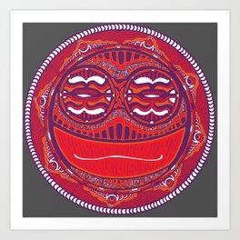 Adrenaline Mask Red Art Print