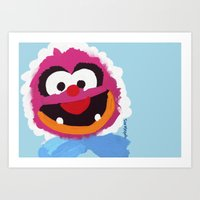 muppets Art Prints featuring Animal Muppets Babies by Roe Mesquita