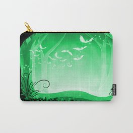 Dark Forest at Dawn in Emerald Carry-All Pouch