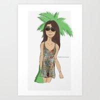 selena gomez Art Prints featuring selena gomez  by Emma Raunholt