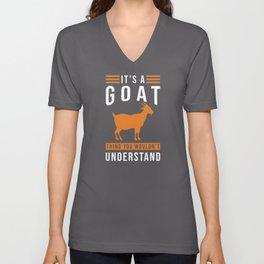 Goat Saying Funny Unisex V-Neck